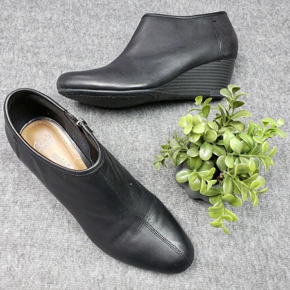 07e378c2a24 Clarks Brielle Abby Soft Cushion Wedge Ankle Boot